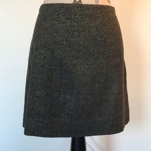 J.Crew black metallic+gold shimmer mini skirt sz12
